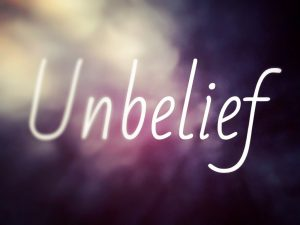 (Un)belief - a picture illustrating faith and unbelief.